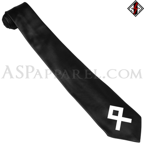 Odal Rune Satin Tie-satanic-clothing-heathen-merchandise-by-ASP Culture