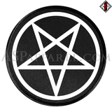 Pentagram Circle Circular Patch-satanic-clothing-heathen-merchandise-by-ASP Culture