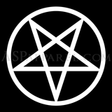 Pentagram Circle Satin Tie-satanic-clothing-heathen-merchandise-by-ASP Culture
