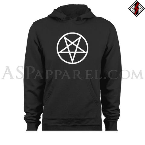 Pentagram Circle Hooded Sweatshirt (Hoodie)-satanic-clothing-heathen-merchandise-by-ASP Culture