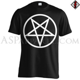 Pentagram Circle T-Shirt - Large Print-satanic-clothing-heathen-merchandise-by-ASP Culture
