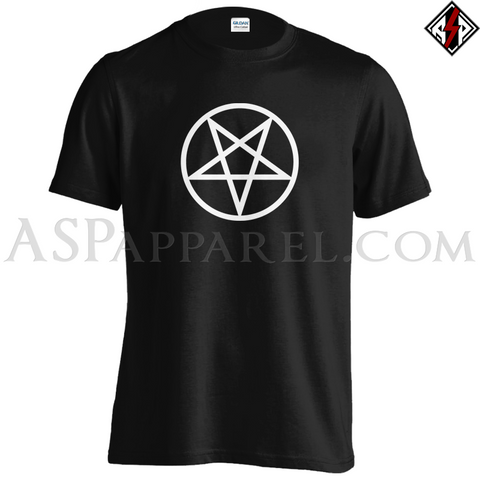 Pentagram Circle T-Shirt-satanic-clothing-heathen-merchandise-by-ASP Culture
