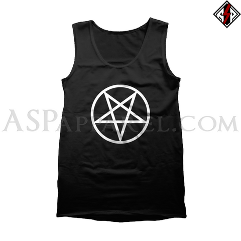 Pentagram Circle Tank Top-satanic-clothing-heathen-merchandise-by-ASP Culture