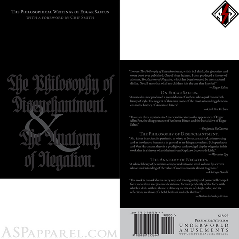 The Philosophical Writings of Edgar Saltus-satanic-clothing-heathen-merchandise-by-ASP Culture