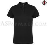 Plain Ladies' Polo Shirt-satanic-clothing-heathen-merchandise-by-ASP Culture