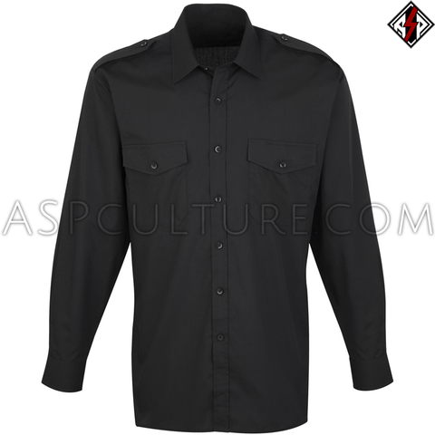 Plain Long Sleeved Light Military Shirt