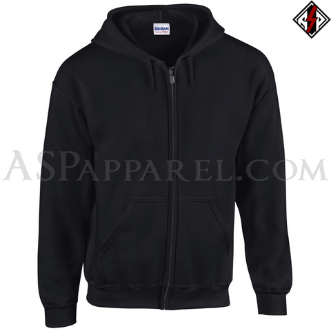 Plain Zipped Hooded Sweatshirt (Hoodie)-satanic-clothing-heathen-merchandise-by-ASP Culture