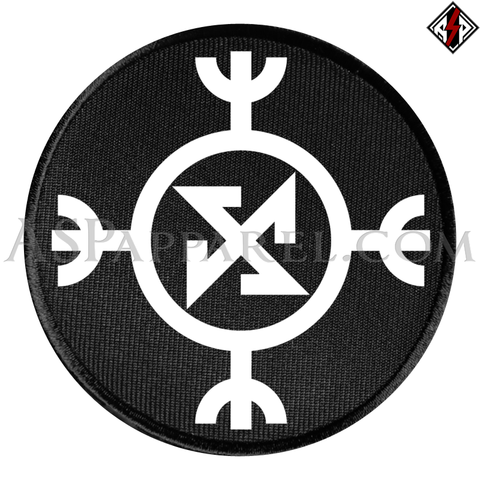 Ragnarok Rune (Satanic Bind Rune) Circular Patch-satanic-clothing-heathen-merchandise-by-ASP Culture