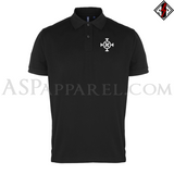 Ragnarok Rune (Satanic Bind Rune) Polo Shirt-satanic-clothing-heathen-merchandise-by-ASP Culture