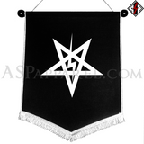 Sig Pentagram Chevron Pennant-satanic-clothing-heathen-merchandise-by-ASP Culture