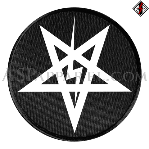 Sig Pentagram Circular Patch-satanic-clothing-heathen-merchandise-by-ASP Culture