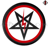 Sig Pentagram Deluxe Circular Patch-satanic-clothing-heathen-merchandise-by-ASP Culture