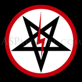 Sig Pentagram Deluxe Banner Flag (Vertical)-satanic-clothing-heathen-merchandise-by-ASP Culture