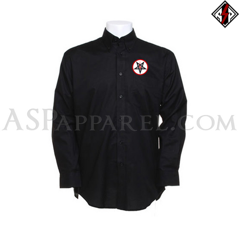 Sig Pentagram Deluxe Long Sleeved Shirt-satanic-clothing-heathen-merchandise-by-ASP Culture