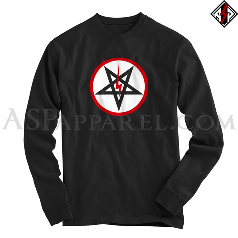 Sig Pentagram Deluxe Long Sleeved T-Shirt-satanic-clothing-heathen-merchandise-by-ASP Culture