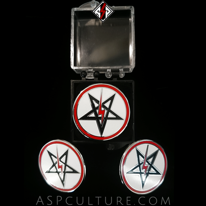 Sig Pentagram Deluxe Pin Badge-satanic-clothing-heathen-merchandise-by-ASP Culture