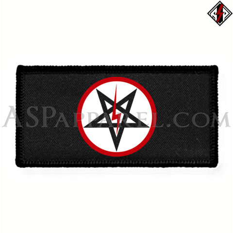 Sig Pentagram Deluxe Rectangular Patch-satanic-clothing-heathen-merchandise-by-ASP Culture