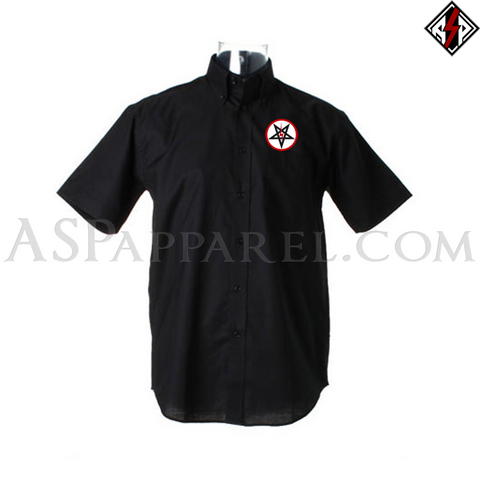 Sig Pentagram Deluxe Short Sleeved Shirt-satanic-clothing-heathen-merchandise-by-ASP Culture