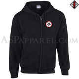 Sig Pentagram Deluxe Zipped Hooded Sweatshirt (Hoodie)-satanic-clothing-heathen-merchandise-by-ASP Culture