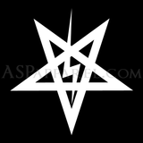 Sig Pentagram Polo Shirt-satanic-clothing-heathen-merchandise-by-ASP Culture