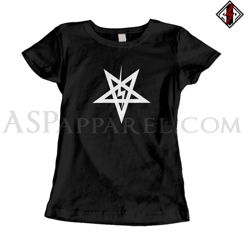 Sig Pentagram Ladies' T-Shirt-satanic-clothing-heathen-merchandise-by-ASP Culture