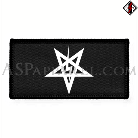 Sig Pentagram Rectangular Patch-satanic-clothing-heathen-merchandise-by-ASP Culture