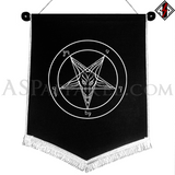 Sigil of Baphomet Chevron Pennant-satanic-clothing-heathen-merchandise-by-ASP Culture