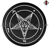 Sigil of Baphomet Circular Patch-satanic-clothing-heathen-merchandise-by-ASP Culture
