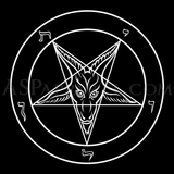 Sigil of Baphomet Hooded Sweatshirt (Hoodie)-satanic-clothing-heathen-merchandise-by-ASP Culture