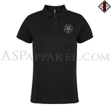 Sigil of Baphomet Ladies' Polo Shirt-satanic-clothing-heathen-merchandise-by-ASP Culture
