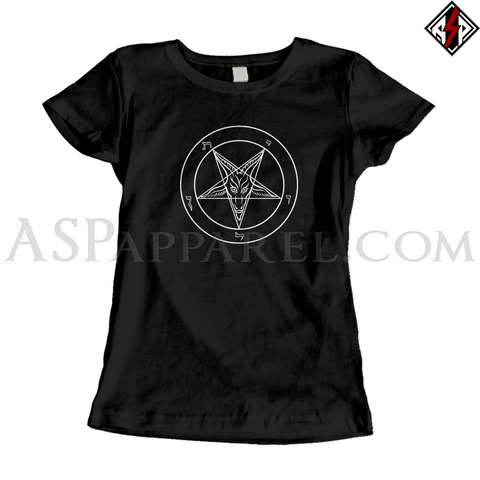 Sigil of Baphomet Ladies' T-Shirt-satanic-clothing-heathen-merchandise-by-ASP Culture