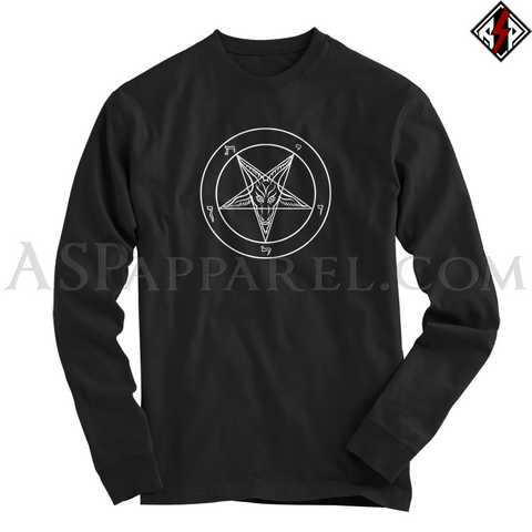 Sigil of Baphomet Long Sleeved T-Shirt-satanic-clothing-heathen-merchandise-by-ASP Culture