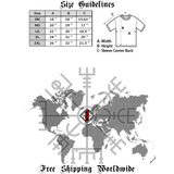 Algiz Rune T-Shirt - Small Print-satanic-clothing-heathen-merchandise-by-ASP Culture
