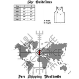 Book and Rifle Club Deluxe Tank Top-satanic-clothing-heathen-merchandise-by-ASP Culture