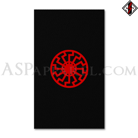 Sonnenrad (Black Sun) Banner Flag (Vertical)-satanic-clothing-heathen-merchandise-by-ASP Culture