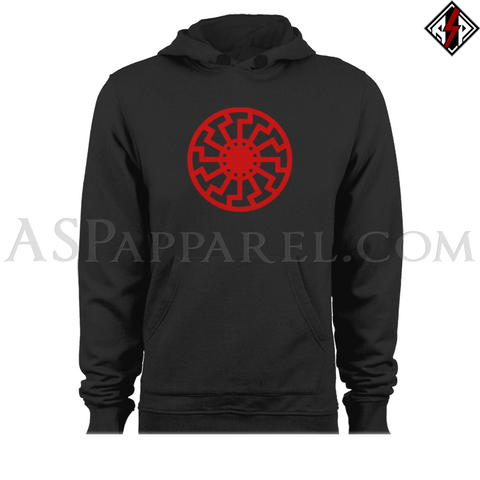 Sonnenrad (Black Sun) Hooded Sweatshirt (Hoodie)-satanic-clothing-heathen-merchandise-by-ASP Culture