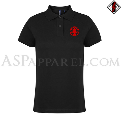 Sonnenrad (Black Sun) Ladies' Polo Shirt