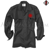 Sonnenrad (Black Sun) Long Sleeved Heavy Military Shirt-satanic-clothing-heathen-merchandise-by-ASP Culture