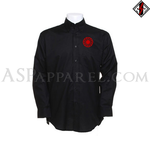 Sonnenrad (Black Sun) Long Sleeved Shirt-satanic-clothing-heathen-merchandise-by-ASP Culture