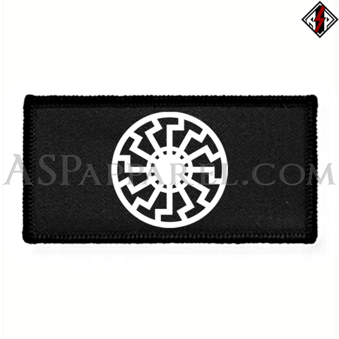 Sonnenrad (Black Sun) Rectangular Patch-satanic-clothing-heathen-merchandise-by-ASP Culture