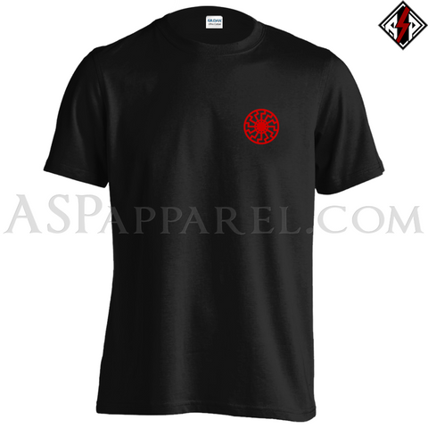Sonnenrad (Black Sun) T-Shirt - Small Print-satanic-clothing-heathen-merchandise-by-ASP Culture