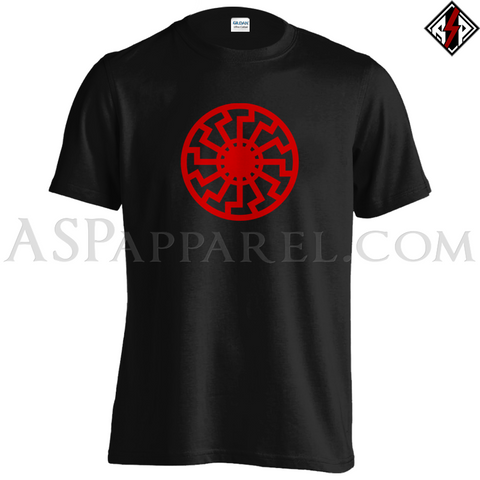 Sonnenrad (Black Sun) T-Shirt-satanic-clothing-heathen-merchandise-by-ASP Culture