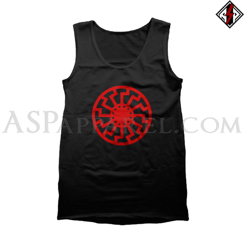 Sonnenrad (Black Sun) Tank Top-satanic-clothing-heathen-merchandise-by-ASP Culture