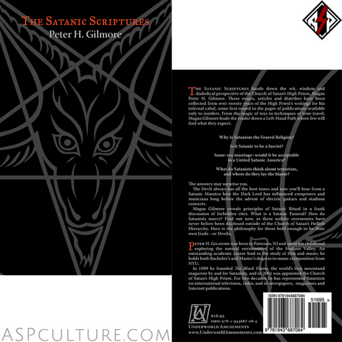 The Satanic Scriptures (10th Anniversary Edition)-satanic-clothing-heathen-merchandise-by-ASP Culture