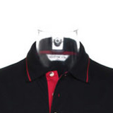 Double Cross (Cross of Lorraine) Tipped Polo Shirt - Heathen & Satanic Clothing & Merchandise
