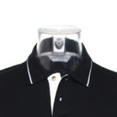 Trapezoid Pentagram Tipped Polo Shirt