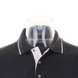 Anton LaVey Sigil Deluxe Tipped Polo Shirt-satanic-clothing-heathen-merchandise-by-ASP Culture