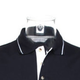 Inverted Cross Tipped Polo Shirt