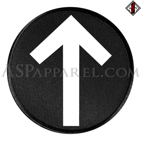 Tiwaz Rune Circular Patch-satanic-clothing-heathen-merchandise-by-ASP Culture