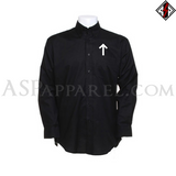 Tiwaz Rune Long Sleeved Shirt-satanic-clothing-heathen-merchandise-by-ASP Culture